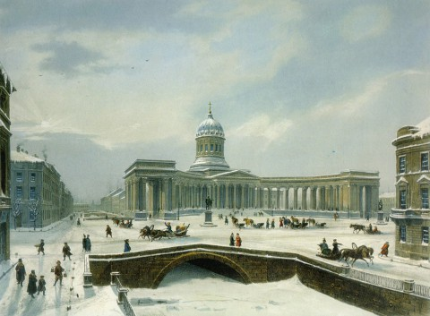 Арну Л. Ж., Казанский собор. 1840-е годы.