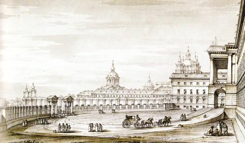 Кваренги Дж., Смольный институт. 1800-е годы.