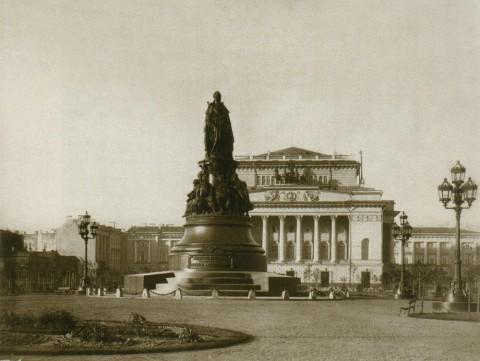 Бианки И. К., Памятник Екатерине II на Александринской площади. 2-я половина 1870-х годов.