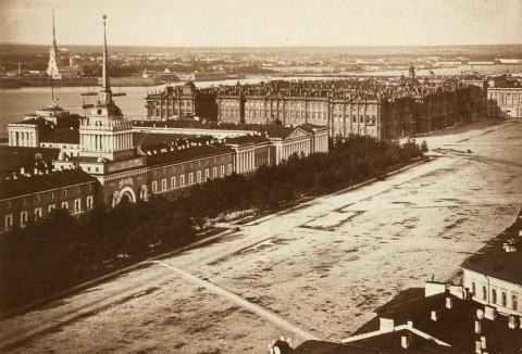 Адмиралтейская площадь, до 1874 г.