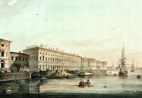 Беггров К. П., Дворцовая набережная. 1826 год.