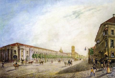 Угол Невского проспекта и Садовой улицы, 1815 гг.