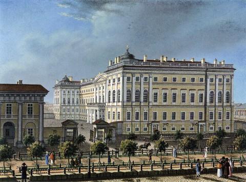 Аничков дворец, 1810-е гг.