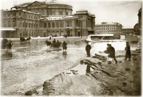 Фотоателье Буллы, Театральная площадь. наводнение. 1903.11.12.