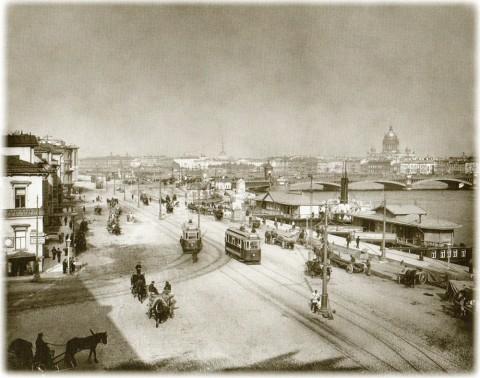 Булла К. К., Николаевская набережная и Николаевский мост. 1900-е годы.