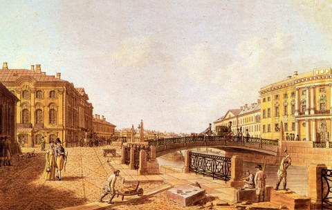 Патерсен Б., Полицейский мост на Невском проспекте. 1810-е годы.
