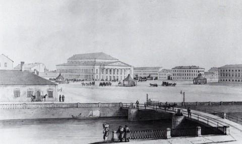 Мартынов А. Е., Большой (Каменный) театр. 1810-е годы.