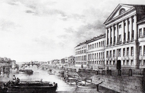 Беггров К. П., Вид Фонтанки от Измайловского моста. 1823 год.