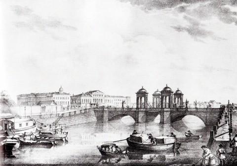 Беггров К. П., Обуховский мост через Фонтанку. 1823 год.