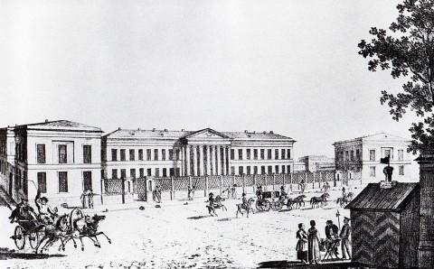 Неизвестный художник, Больница для бедных на Литейной улице. 1820-е годы.