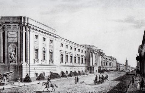 Галактионов С. Ф., Вид Старого Арсенала. 1822 год.