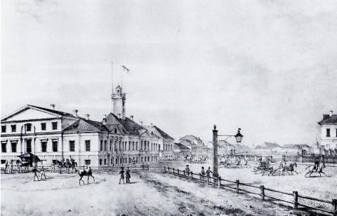 Беггров К. П., Мойка. Выезд пожарной команды. 1820-е годы.
