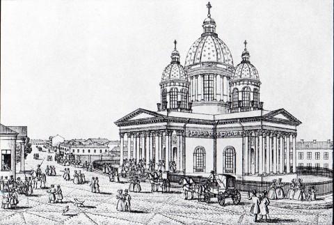 Тюмлинг Л., Троицкий собор в слободе Измайловского полка. 1830-е годы.