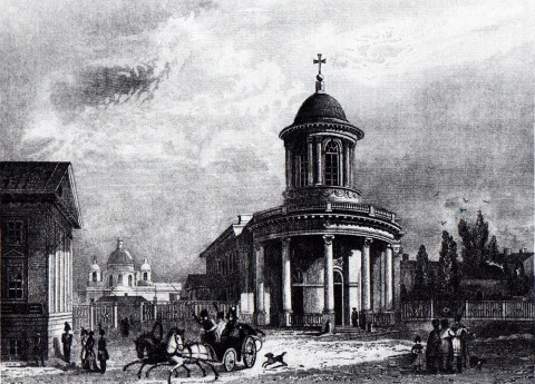 Гоберт, Лютеранская церковь св. Анны. 1834 год.