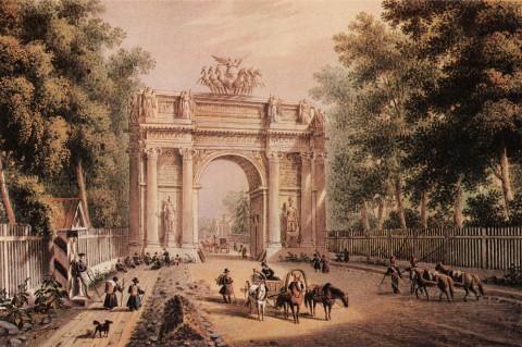 Беггров К. П., Триумфальные ворота. 1820-е годы.
