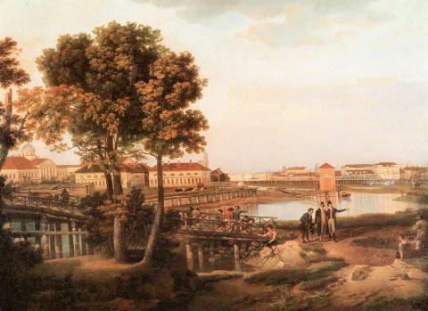 Щедрин Сильвестр Ф., Вид с Петровского острова в Петербурге. 1811 год.
