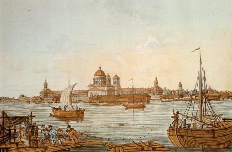 Иванов И. А., Вид Невского монастыря (Александро-Невская лавра). 1815 год.