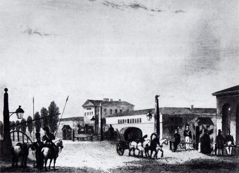 Гоберт, Московский въезд. 1834 год.