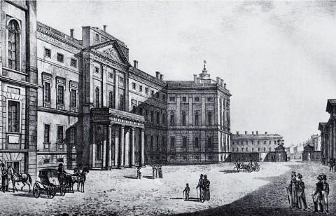 Неизвестный художник, Аничков дворец. Главный фасад. 1820-е годы.