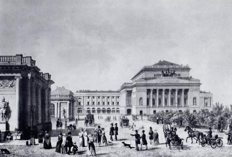 Шевалье Ф., Вид Александринского театра. 1830-е годы.