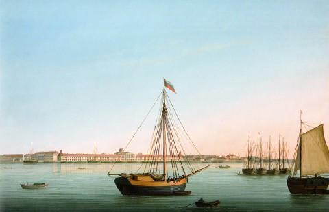 Барт И. В., Морской и Сухопутный госпиталь на Выборгской стороне. 1810-е годы.