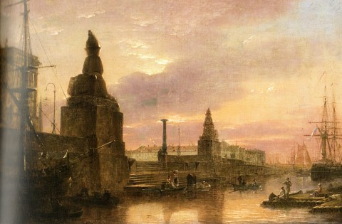 Воробьёв М. Н., Пристань у Академии художеств. 1833 год.