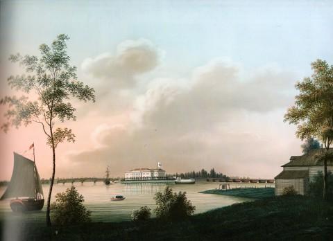 Барт И. В., Вид на Каменноостровский дворец вечером. После 1813 года.