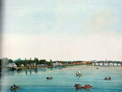 Неизвестный художник, Дачи на Каменном острове. Середина 1810-х годов.