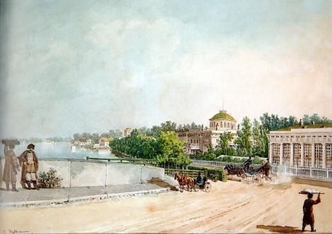 Кольман К. И., Дача принца П. Г. Ольденбургского на Каменном острове. Середина 1830-х годов.
