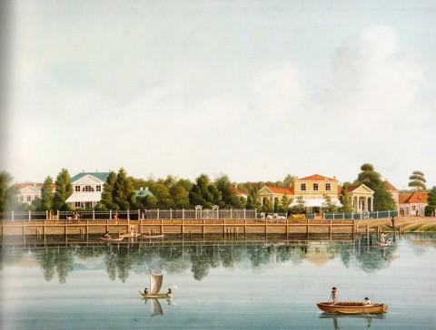 Барт И. В., Дачи на берегу Малой Невски на Аптекарском острове. 1810-е годы.
