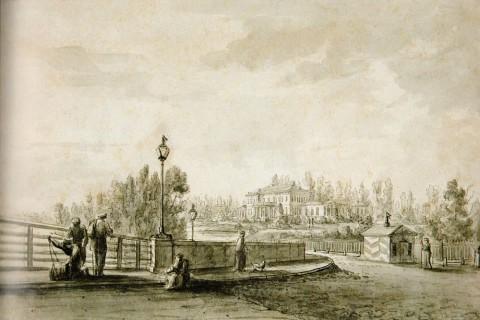 Чернецов Н. Г., Вид дачи князя П. В. Лопухина на Аптекарском острове. Около 1823 года.