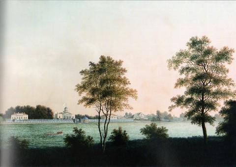 Яковлев А., Дача В. Н. Зиновьева на Колтовской набережной Малой Невки. 1810-е годы.