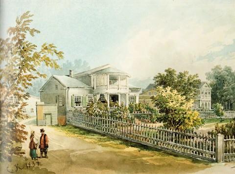 Кольман К. И., Дачи на Чёрной речке на Выборгской стороне. 1838 год.