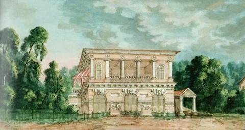 Фосс А., Вид дачи Н. П. Строгановой на Чёрной речке. 1846 год.