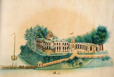 Дейер П. А., Уткина дача на Охте. 1840 год.