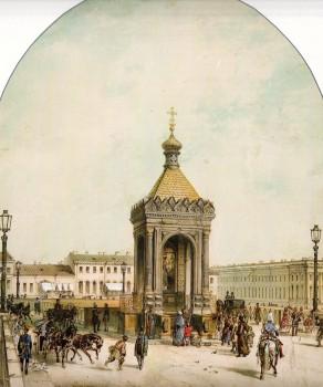 Шарлемань И. И., Часовня на Благовещенском мосту. 1854 год.