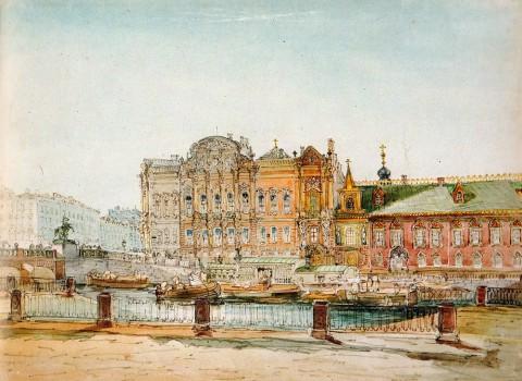 Садовников В. С., Дворец Белосельских-Белозерских и Сергиевское подворье. 1860 год.
