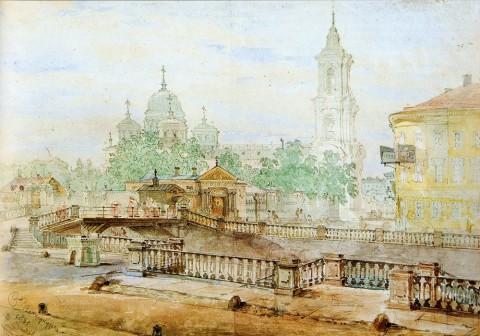 Садовников В. С., Екатерининский канал у Вознесенской церкви. 1861 год.