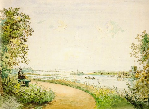 Садовников В. С., Стрелка Елагина острова. 1855 год.