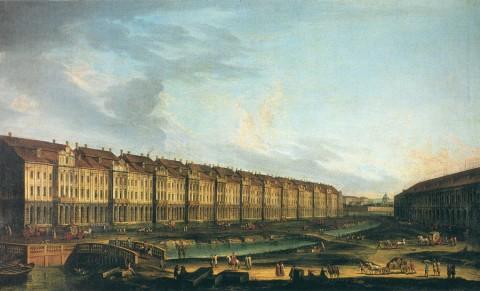 Неизвестный художник, Здание Двенадцати коллегий. Третья четверть XVIII века.
