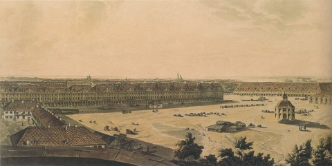 Аткинсон Д. А., Вид здания Двенадцати коллегий. 1805-1807 годы.