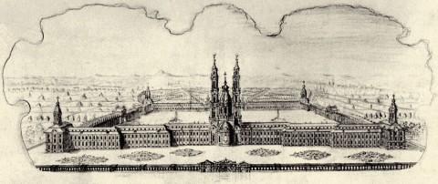 Махаев М. И., Вид Александро-Невского монастыря. 1747 год.
