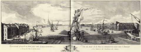 Махаев М. И., Проспект в верх по Неве реке от Адмиралтейства и Академии Наук к востоку. 1749-1750 годы.