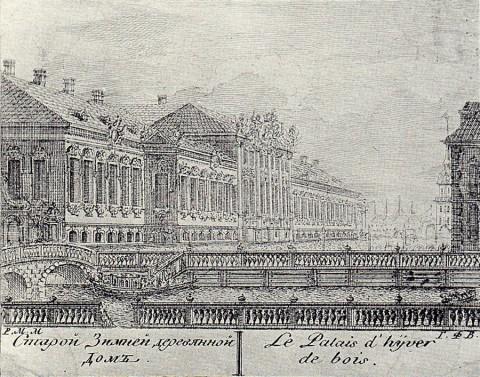 Махаев М. И., Старой Зимней деревянной Дом. 1761 год.