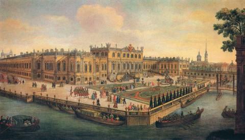 Неизвестный художник, Летний дворец императрицы Елизаветы Петровны. Третья четверть XVIII века.