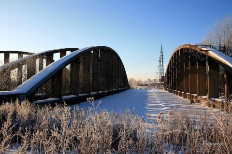 Конструкции Володарского моста в Новосаратовке.