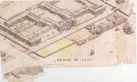 Аксонометрический план Санкт-Петербурга. 1765-1773 годы.