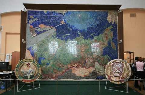 Карта СССР из драгоценных камней. 2009.04.23.
