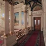 Коридор у парадной лестницы в особняке А. Ф. Кельха