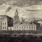 Фрагмент гравюры Махаева. Голландская церковь